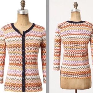 Anthropologie Tabitha high frequency cardigan xs